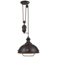 Farmhouse 1 Light 14 inch Oiled Bronze Pendant Ceiling Light in Standard