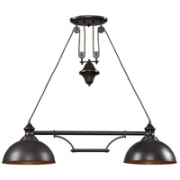 ELK 65150-2-LED Farmhouse LED 44 inch Oiled Bronze Billiard/Island Ceiling Light