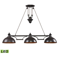 Farmhouse LED 56 inch Oiled Bronze Billiard Light Ceiling Light