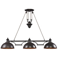 Farmhouse 3 Light 56 inch Oiled Bronze Billiard/Island Ceiling Light in Standard