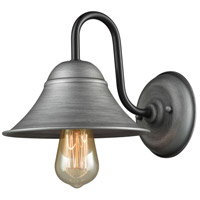 Binghamton 1 Light 8 inch Weathered Zinc and Oil Rubbed Bronze Wall Sconce Wall Light