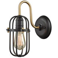 Binghamton 1 Light 6 inch Oil Rubbed Bronze and Satin Brass Wall Sconce Wall Light