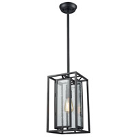ELK 65261/1 Eastgate 1 Light 8 inch Textured Black Pendant Ceiling Light
