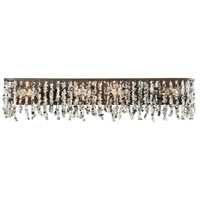 Agate Stones 4 Light 34 inch Weathered Bronze Vanity Wall Light
