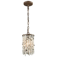 ELK 65305/1 Agate Stones 1 Light 6 inch Weathered Bronze Mini Pendant Ceiling Light in Standard