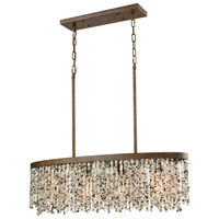 Agate Stones 4 Light 36 inch Weathered Bronze Chandelier Ceiling Light