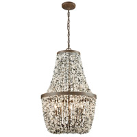 Agate Stones 5 Light 18 inch Weathered Bronze Chandelier Ceiling Light