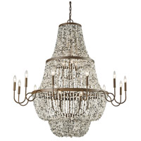 Agate Stones 21 Light 47 inch Weathered Bronze Chandelier Ceiling Light