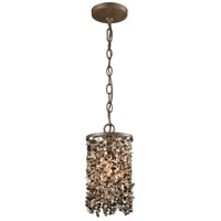 ELK 65315/1-LA Agate Stones 1 Light 6 inch Weathered Bronze Pendant Ceiling Light in Recessed Adapter Kit