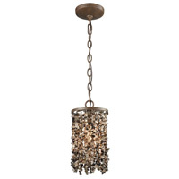 ELK 65315/1 Agate Stones 1 Light 6 inch Weathered Bronze Mini Pendant Ceiling Light in Standard