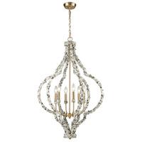 ELK 65359/6 Agate Stones 6 Light 25 inch Satin Brass Chandelier Ceiling Light