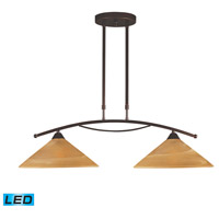 ELK Lighting Elysburg 2 Light Billiard/Island in Aged Bronze 6551/2-LED