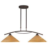 ELK Lighting Elysburg 2 Light Island Light in Aged Bronze 6551/2