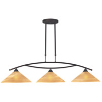 ELK Lighting Elysburg 3 Light Island Light in Aged Bronze 6552/3