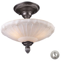 ELK Lighting Restoration 3 Light Semi-Flush Mount in Dark Silver 66092-3-LA