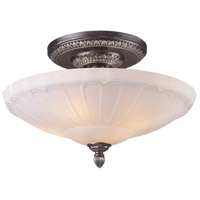 Restoration 4 Light 20 inch Dark Silver Semi-Flush Mount Ceiling Light