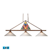 ELK Lighting Designer Classics 3 Light Billiard/Island in Wood Patina 66103-3-LED