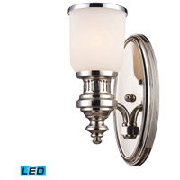 ELK Lighting Chadwick 1 Light Wall Sconce in Polished Nickel 66110-1-LED