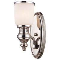 ELK Lighting Chadwick 1 Light Wall Sconce in Polished Nickel 66110-1