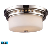 ELK 66111-2-LED Chadwick LED 13 inch Polished Nickel Flush Mount Ceiling Light