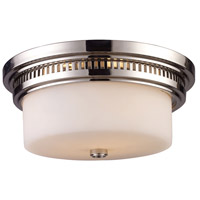 ELK Lighting Chadwick 2 Light Flush Mount in Polished Nickel 66111-2