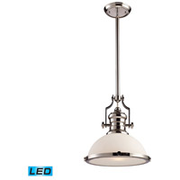 ELK Lighting Chadwick 1 Light Pendant in Polished Nickel 66113-1-LED