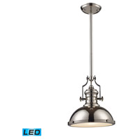 ELK Lighting Chadwick 1 Light Pendant in Polished Nickel 66114-1-LED