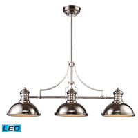 ELK 66115-3-LED Chadwick LED 47 inch Polished Nickel Billiard Light Ceiling Light photo thumbnail