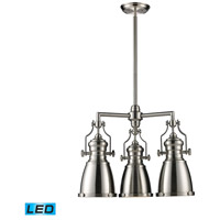ELK 66120-3-LED Chadwick LED 22 inch Satin Nickel Chandelier Ceiling Light