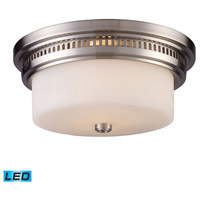 ELK 66121-2-LED Chadwick LED 13 inch Satin Nickel Flush Mount Ceiling Light