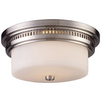 ELK 66121-2 Chadwick 2 Light 13 inch Satin Nickel Flush Mount Ceiling Light in Standard