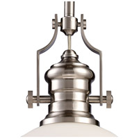 ELK 66123-1 Chadwick 1 Light 13 inch Satin Nickel Pendant Ceiling Light in Incandescent alternative photo thumbnail