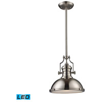 ELK Lighting Chadwick 1 Light Pendant in Satin Nickel 66124-1-LED
