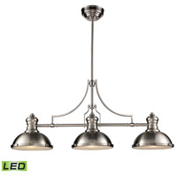 ELK 66125-3-LED Chadwick LED 47 inch Satin Nickel Billiard Light Ceiling Light