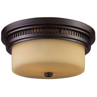 Chadwick 2 Light 13 inch Oiled Bronze Flush Mount Ceiling Light in Standard