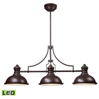 ELK Lighting Chadwick 3 Light Billiard/Island in Oiled Bronze 66135-3-LED