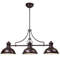 ELK 66135-3 Chadwick 3 Light 47 inch Oiled Bronze Billiard Light Ceiling Light in Incandescent