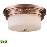 ELK 66141-2-LED Chadwick LED 13 inch Antique Copper Flush Mount Ceiling Light