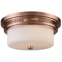 Chadwick 2 Light 13 inch Antique Copper Flush Mount Ceiling Light in Standard