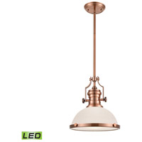 ELK 66143-1-LED Chadwick LED 13 inch Antique Copper Pendant Ceiling Light