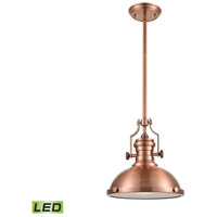 ELK Lighting Chadwick 1 Light Pendant in Antique Copper 66144-1-LED