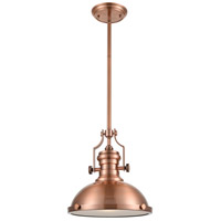 ELK 66144-1 Chadwick 1 Light 13 inch Antique Copper Pendant Ceiling Light in Standard