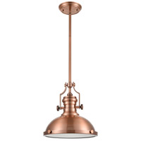 ELK 66144-1 Chadwick 1 Light 13 inch Antique Copper Pendant Ceiling Light in Incandescent alternative photo thumbnail