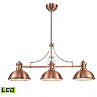 ELK 66145-3-LED Chadwick LED 47 inch Antique Copper Billiard Light Ceiling Light