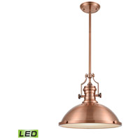 Chadwick LED 17 inch Antique Copper Pendant Ceiling Light