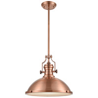ELK 66148-1 Chadwick 1 Light 17 inch Antique Copper Pendant Ceiling Light in Incandescent