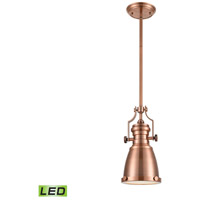 ELK 66149-1-LED Chadwick LED 8 inch Antique Copper Pendant Ceiling Light
