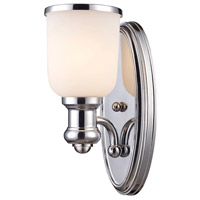 Brooksdale 1 Light 5 inch Polished Chrome Wall Sconce Wall Light in Incandescent