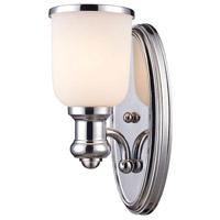 ELK 66150-1 Brooksdale 1 Light 5 inch Polished Chrome Sconce Wall Light in Incandescent