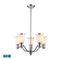 ELK Lighting Brooksdale 5 Light Chandelier in Polished Chrome 66153-5-LED